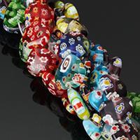 Murano Millefiori Lampwork Beads, Evil Eye, handmade, Islamic jewelry & different size for choice, more colors for choice, Hole:Approx 1mm, Length:Approx 15.5 Inch, Sold By Strand