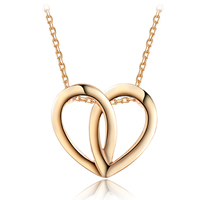Newegg® Jewelry Necklace, Zinc Alloy, with 2lnch extender chain, Heart, real rose gold plated, oval chain, 23x20mm, Length:Approx 17.7 Inch, Sold By Strand