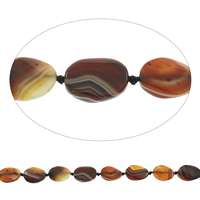 Natural Lace Agate Beads, Flat Oval, coffee color, 20x25x7mm-21x26x8mm, Hole:Approx 2mm, Length:Approx 15 Inch, Approx 14PCs/Strand, Sold By Strand