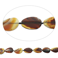 Natural Lace Agate Beads, Teardrop, coffee color, 25x32x6mm-27x34x7mm, Hole:Approx 2mm, Length:Approx 15.5 Inch, Approx 11PCs/Strand, Sold By Strand