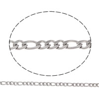 Stainless Steel Figaro Chain, different size for choice, original color, Sold By m