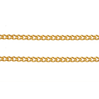 Brass Curb Chain, plated, more colors for choice, 1.9x1.5x0.4mm, Sold By m