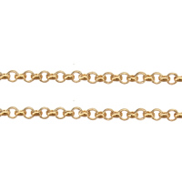 Brass Rolo Chain, plated, more colors for choice, 1.5x0.5x0.3mm, Sold By m