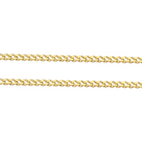 Brass Curb Chain, plated, more colors for choice, 1.4x1x0.4mm, Sold By m