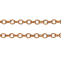 Brass Oval Chain, plated, more colors for choice, 2.2x1.7x0.2mm, Sold By m