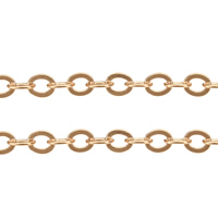 Brass Oval Chain, plated, more colors for choice, 4.5x3.7x0.4mm, Sold By m