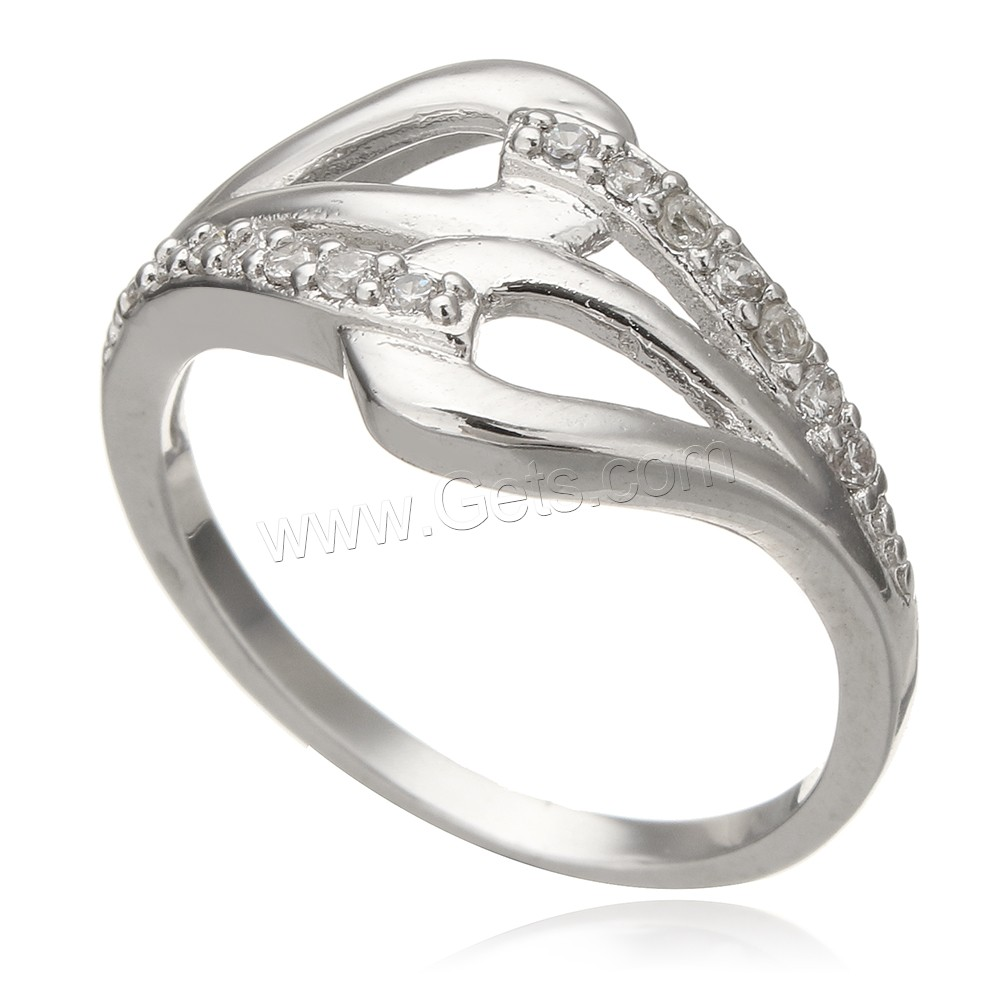 cubic zirconia micro pave sterling silver finger ring 925