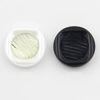 Acrylic Shank Button, with Resin, different size for choice, more colors for choice, Sold By PC