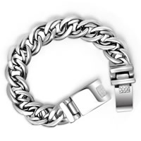 Titanium Steel Bracelet, double link chain & blacken, 15.5mm, Length:Approx 7.5 Inch, Sold By Strand