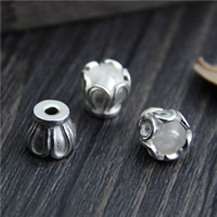 Sterling Silver Bead Caps, 925 Sterling Silver, 8.4x6.9mm, Hole:Approx 2.2mm, Sold By PC