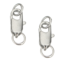 Brass Lobster Claw Clasp, platinum color plated, 5.5x12x3mm, Hole:Approx 3.5mm, Sold By PC