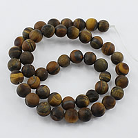 Tiger Eye Beads, Round, natural, different size for choice & frosted, Hole:Approx 1-2mm, Length:Approx 14.5 Inch, Sold By Strand