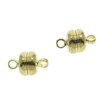 Brass Magnetic Clasp, plated, more colors for choice, nickel, lead & cadmium free, 7x12mm, Hole:Approx 2mm, Sold By PC
