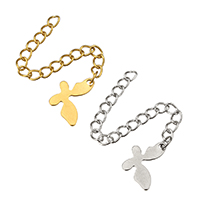 Stainless Steel Extender Chain, Butterfly, plated, more colors for choice, 8.5x14x0.5mm, 3x4mm, Length:Approx 2.5 Inch, Sold By Strand
