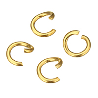 Stainless Steel Open Jump Ring, gold color plated, 9x9x1.5mm, Sold By PC