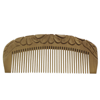 Wood Hair Jewelry Comb, Carved, original color, 117x50x10mm, Sold By PC