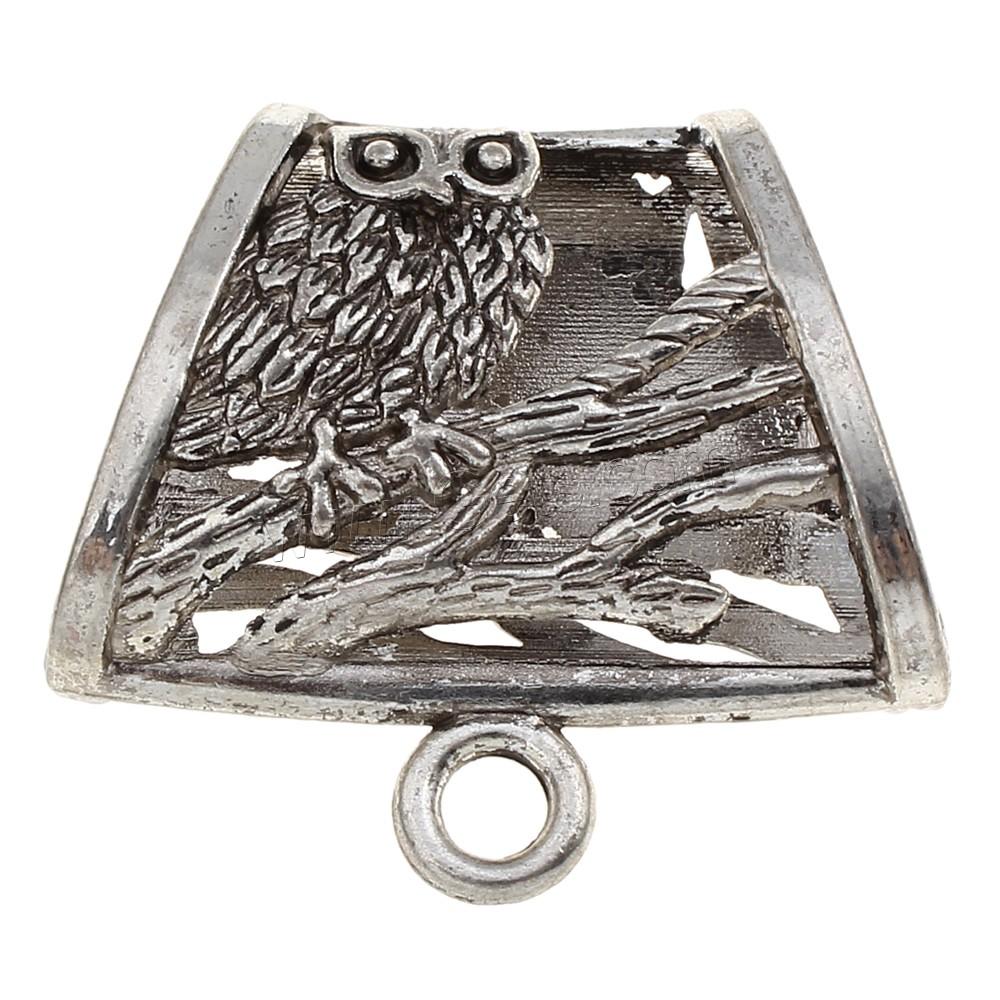 Zinc alloy scarf pendants antique silver color plated lead