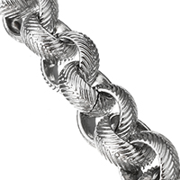 Stainless Steel Rolo Chain, original color, 9x9x4mm, Sold By m