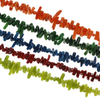 Gemstone Chips, Synthetic Coral, more colors for choice, 4x6mm-4x15mm, Hole:Approx 1mm, Length:Approx 15.5 Inch, Approx 29Strands/KG, 100PCs/Strand, Sold By KG