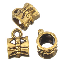 Zinc Alloy Bail Beads, antique gold color plated, lead & cadmium free, 7x10mm, Hole:Approx 1mm, 5mm, Approx 165PCs/Bag, Sold By Bag