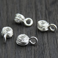 Sterling Silver Extender Chain, 925 Sterling Silver, 6.5x11.4mm, Hole:Approx 2-3mm, Sold By PC