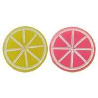 Fruit Resin Cabochon, Tangerine, flat back & solid color, more colors for choice, 14x4mm, Sold By PC