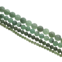 Green Aventurine Bead, Round, different size for choice, Hole:Approx 1mm, Length:Approx 15 Inch, Sold By Strand
