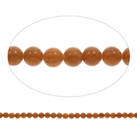 Red Aventurine Bead, Round, 8mm, Hole:Approx 1mm, Length:Approx 15 Inch, Approx 50PCs/Strand, Sold By Strand