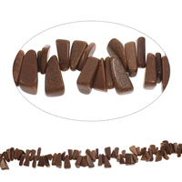 Goldstone Beads, Nuggets, 7x15mm-10x19mm, Hole:Approx 0.8mm, Length:Approx 15 Inch, Approx 100PCs/Strand, Sold By Strand