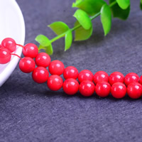 Synthetic Coral Beads, Round, different size for choice, Hole:Approx 1mm, Length:Approx 15 Inch, Sold By Strand