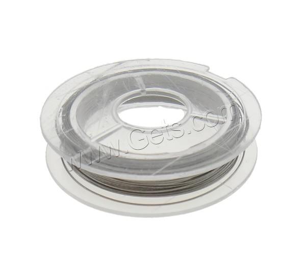 Tiger Tail Wire, original color, 0.38mm, 10PCs/Bag, 10m/PC, Sold By Bag