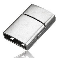 Zinc Alloy Magnetic Clasp, Rectangle, platinum color plated, 24x15.5x6mm, Hole:Approx 14x4mm, Sold By PC