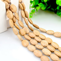 Picture Jasper Beads, Flat Oval, natural, 12x16mm, Hole:Approx 2mm, Length:Approx 15 Inch, Approx 24PCs/Strand, Sold By Strand