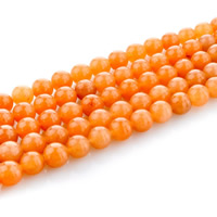 Red Aventurine Bead, Round, natural, different size for choice, Hole:Approx 1mm, Length:Approx 15 Inch, Sold By Strand