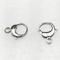 Stainless Steel Lobster Claw Clasp, different size for choice, original color, Hole:Approx 1.5mm, Sold By PC
