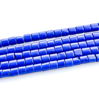 Synthetic Lapis Lazuli Bead, Column, 4x4mm, Hole:Approx 1mm, 95PCs/Strand, Sold By Strand