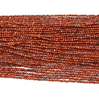 Goldstone Beads, Round, natural, different size for choice & faceted, Hole:Approx 0.5mm, Length:Approx 16 Inch, Sold By Strand