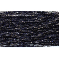 Blue Goldstone Beads, Round, natural, different size for choice & faceted, Hole:Approx 0.5mm, Length:Approx 16 Inch, Sold By Strand