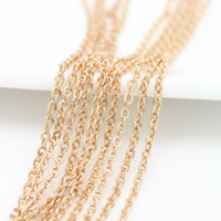 Brass Oval Chain, 24K gold plated, nickel, lead & cadmium free, 2.3x2x0.4mm, Sold By m