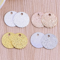 Stardust Brass Pendants, Flat Round, plated, more colors for choice, nickel, lead & cadmium free, 10x0.5mm, Hole:Approx 1mm, Sold By PC