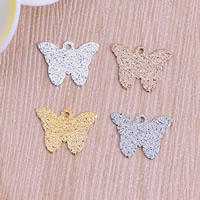 Stardust Brass Pendants, Butterfly, plated, more colors for choice, nickel, lead & cadmium free, 10x13.5x0.5mm, Hole:Approx 1mm, Sold By PC