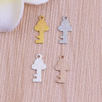 Stardust Brass Pendants, Key, plated, more colors for choice, nickel, lead & cadmium free, 5.5x10.5x0.5mm, Hole:Approx 1mm, Sold By PC