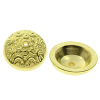 CCB Plastic Beads Caps, Copper Coated Plastic, gold color plated, 16x6mm, Hole:Approx 1mm, Approx 900PCs/Bag, Sold By Bag
