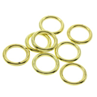 CCB Plastic Linking Ring, Copper Coated Plastic, Donut, gold color plated, 12x1.5mm, Hole:Approx 8mm, Approx 6800PCs/Bag, Sold By Bag