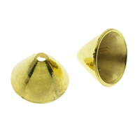 CCB Plastic Beads Caps, Copper Coated Plastic, gold color plated, 14x10mm, Hole:Approx 1.5mm, Approx 1800PCs/Bag, Sold By Bag