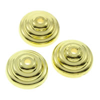 CCB Plastic Beads Caps, Copper Coated Plastic, Flat Round, gold color plated, 12x4mm, Hole:Approx 1mm, Approx 1500PCs/Bag, Sold By Bag