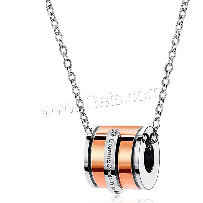 Thailand Sterling Silver Necklace Titanium Steel Column ...