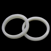 Shell Finger Ring, White Shell, Donut, natural, 24x3mm, US Ring Size:9, Sold By PC