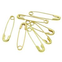 Safety Pin, Iron, gold color plated, lead & cadmium free, 5x19x1mm, 2000PCs/Box, Sold By Box