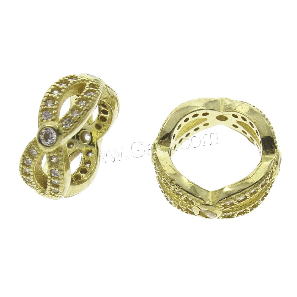 Cubic Zirconia Micro Pave Brass Finger Ring, plated, micro pave cubic zirconia, more colors for choice, nickel, lead & cadmium free, 12x5mm, US Ring Size:8, Sold By PC